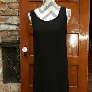 Eileen Fisher Black Sleeveless Maxi Dress